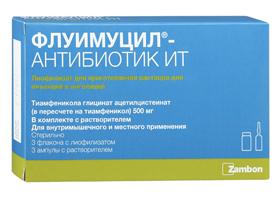 Флуимуцил антибиотик для ингаляций инструкция цена украина