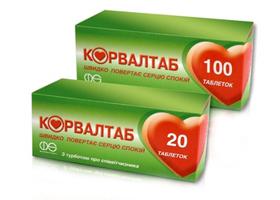 корвалтаб инструкция по применению таблетки цена