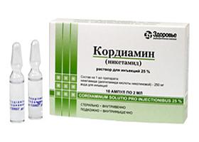 кордиамин инструкция по применению раствор