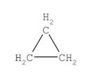 Циклопропан формула