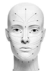 Движения при использовании Дарсонваля для лица