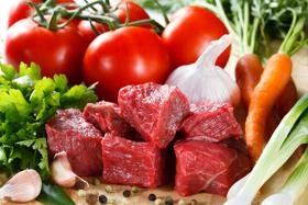 Мясо и овощи во время Английской диеты