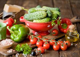 Свежие овощи во время Английской диеты
