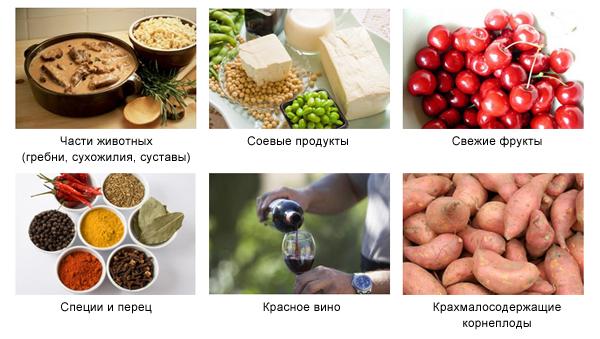 Продукты с высоким содержанием гиалуроновой кислоты