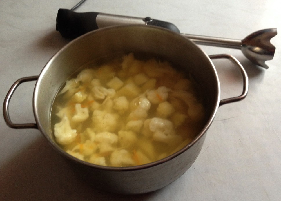 Суп перед обработкой блендером