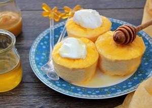 Суфле из моркови с творогом и медом