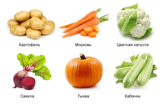 Разрешенные при панкреатите овощи