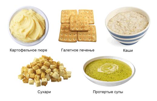 Разрешенные продукты в первую неделю диеты при панкреатите