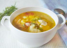 Диетический куриный суп, фото