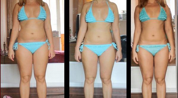 Фото до и после 2 недель белковой диеты