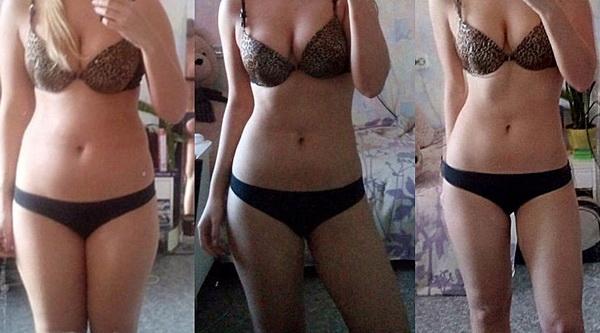 Фото до и после 4 недель белковой диеты