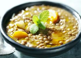 Диетический суп из чечевицы