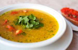 Постный чечевичный суп