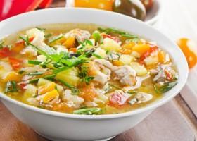 Суп из куриной грудки с овощами