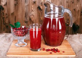 Брусничный сок полезен при гипертонии